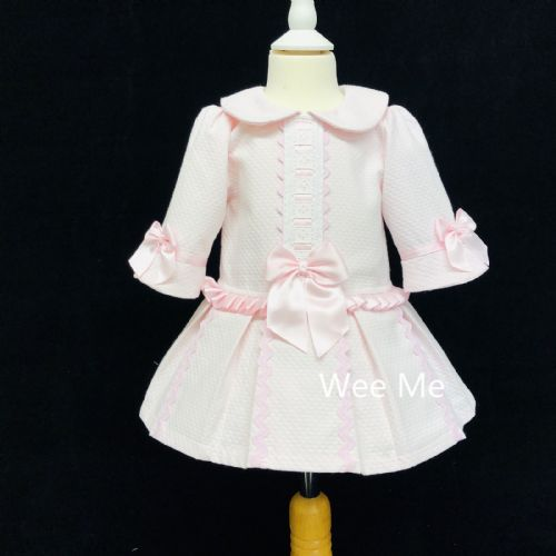 *SALE* Stunning Baby Girl Spanish Pink Half Sleeve Princess Dress